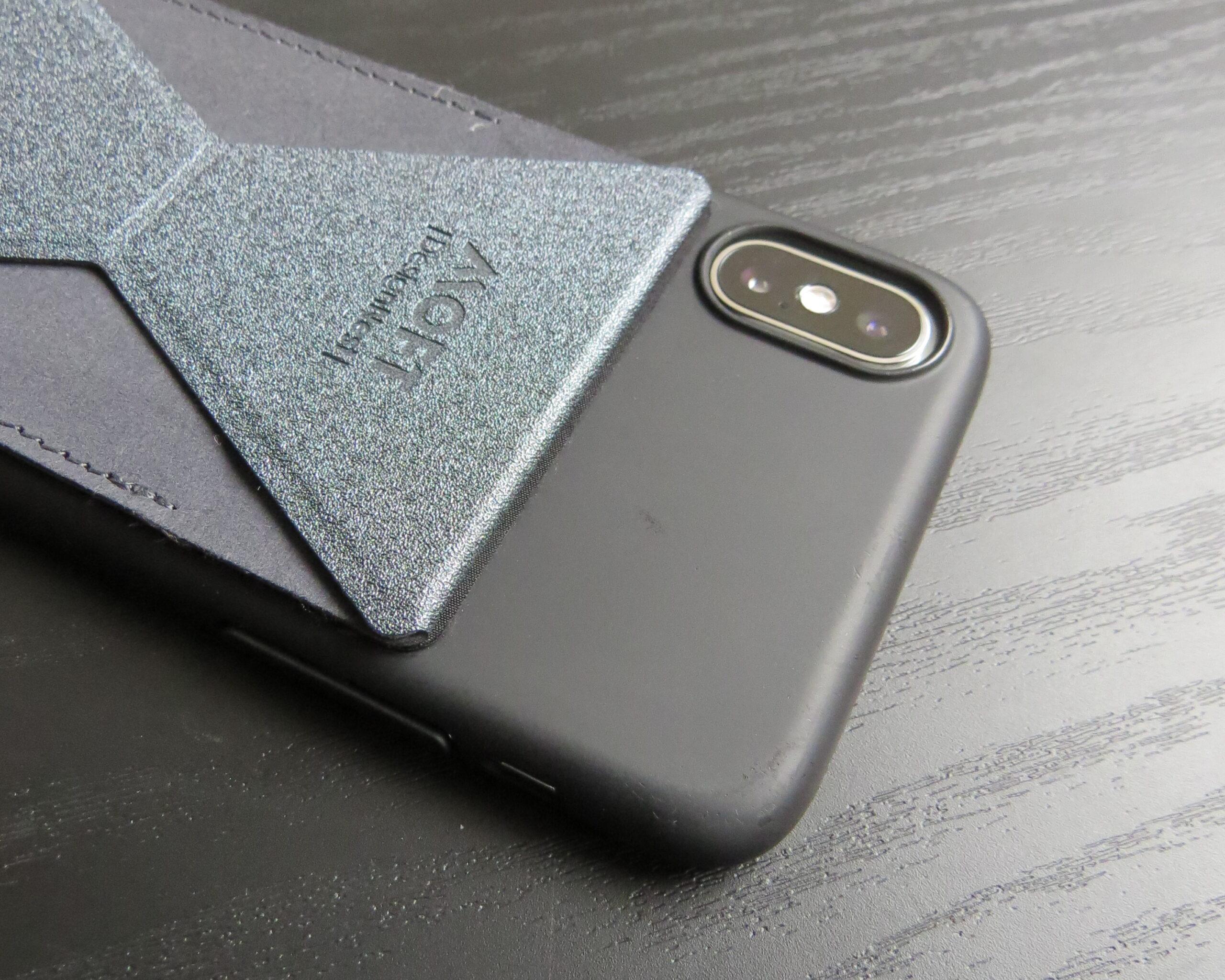 MOFT XとiPhoneのカメラ境目