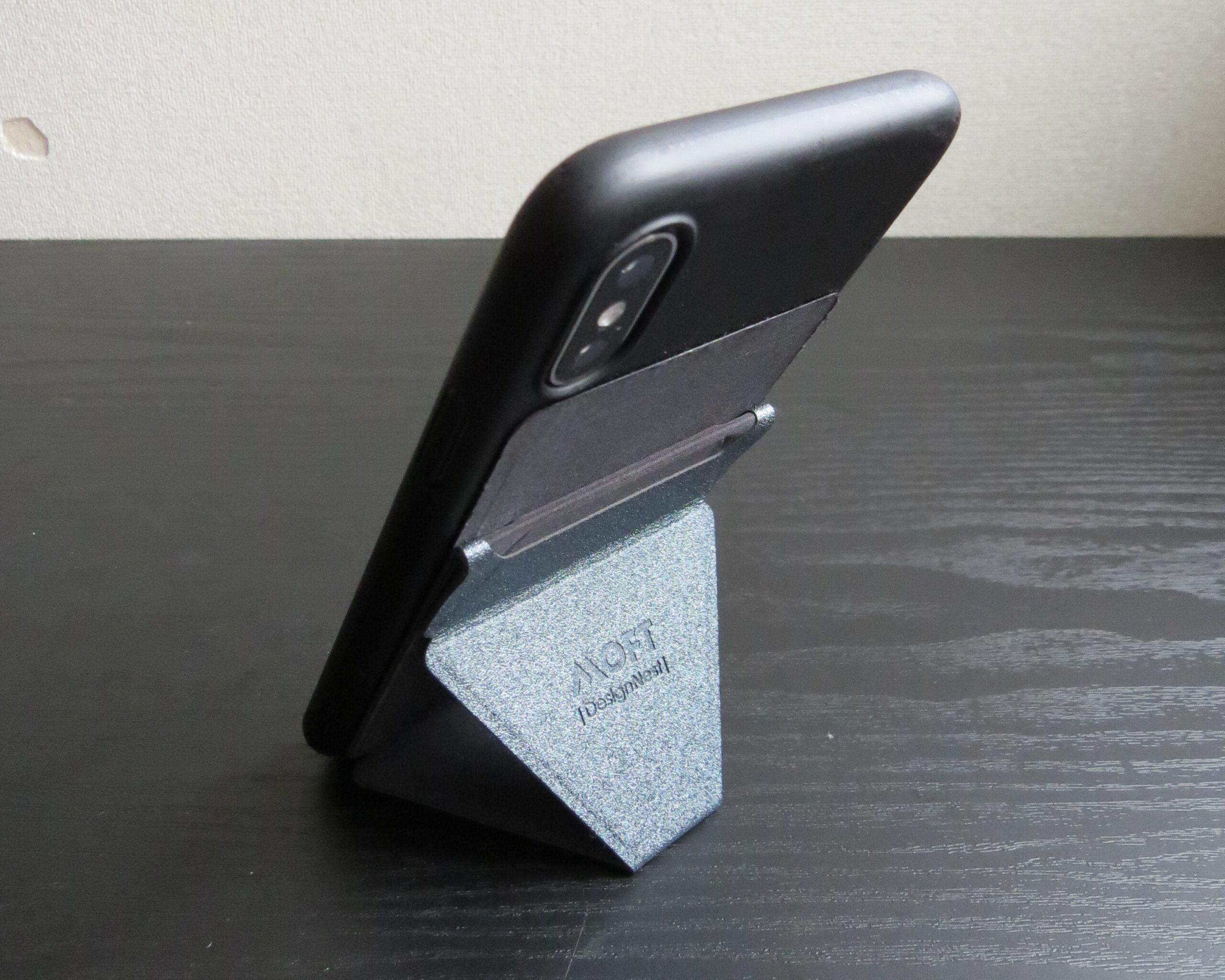 iPhoneでMOFT Xを縦スタンドとして使用