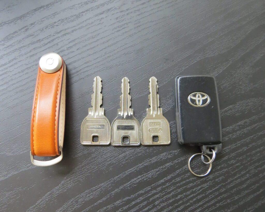Orbitkey Key Organiserに収納する鍵たち