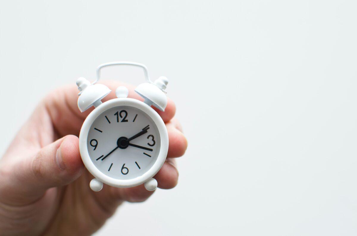 行動する時間を設定