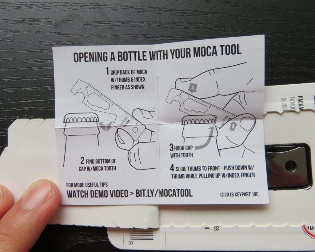 MOCA MULTI-TOOLの栓抜きの説明書